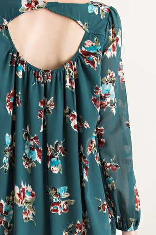 Evergreen Floral Dress - Blue Chic Boutique  - 6