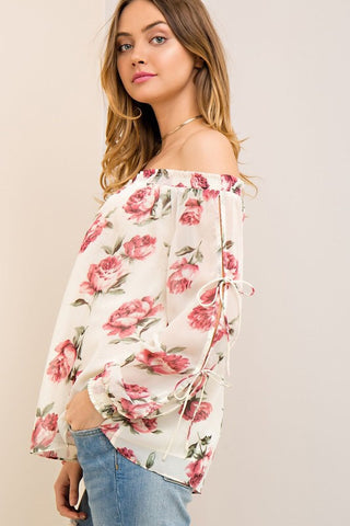 Summer Romance Rose Print Floral Top