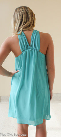 South of the Border Halter Dress - Dark Mint - Blue Chic Boutique  - 6