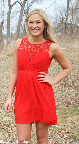 Opulent Dress - Red - Blue Chic Boutique  - 1