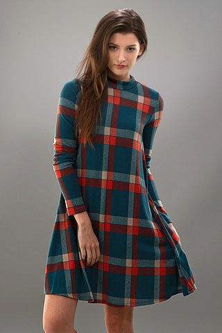 Fall Frame of Mind Plaid Dress - Blue Chic Boutique  - 3