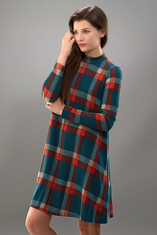 Fall Frame of Mind Plaid Dress - Blue Chic Boutique  - 4