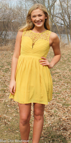 Opulent Dress - Mustard - Blue Chic Boutique  - 1