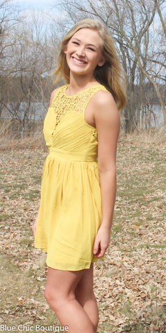 Opulent Dress - Mustard - Blue Chic Boutique  - 2