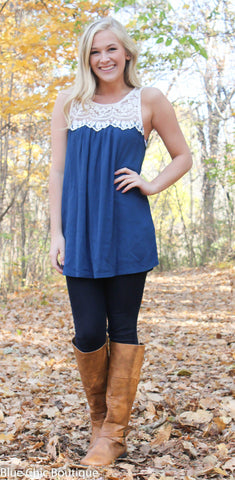Coral Lace Top - Blue Chic Boutique  - 7