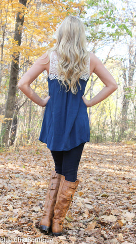 Coral Lace Top - Blue Chic Boutique  - 9