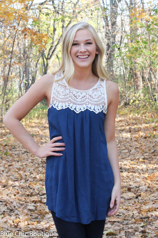 Coral Lace Top - Blue Chic Boutique  - 6