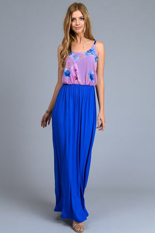 Orchid and Royal Floral Maxi