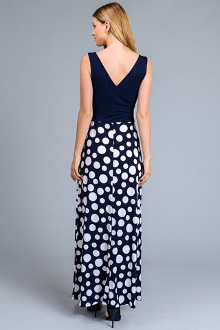 Dots Maxi Dress - Navy