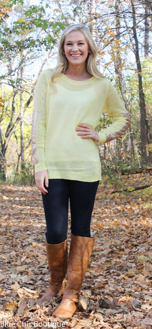 Sparkle and Shine Sequined Sleeved Sweater - Yellow - Blue Chic Boutique  - 5