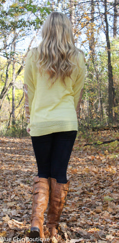Sparkle and Shine Sequined Sleeved Sweater - Yellow - Blue Chic Boutique  - 7
