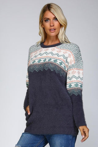 Cozy Day Sweater - Charcoal - Blue Chic Boutique  - 3