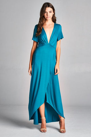 A Touch of Elegance Maxi Dress - Jade