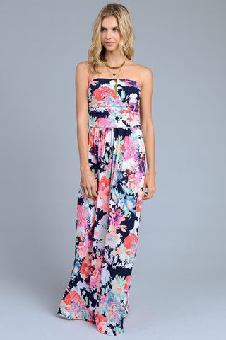 Celebrate Summer Strapless Maxi Dress