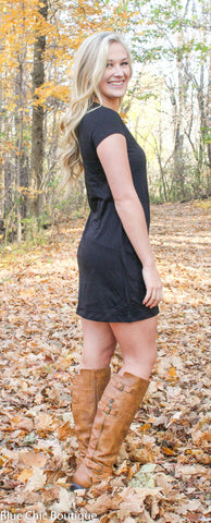 The Perfect Tee Shirt Dress - Black - Blue Chic Boutique  - 7