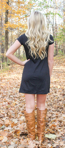The Perfect Tee Shirt Dress - Black - Blue Chic Boutique  - 3