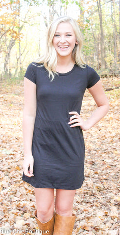 The Perfect Tee Shirt Dress - Black - Blue Chic Boutique  - 9
