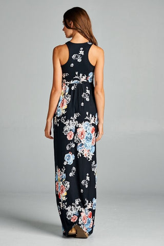 Garden Party Maxi Dress - Black