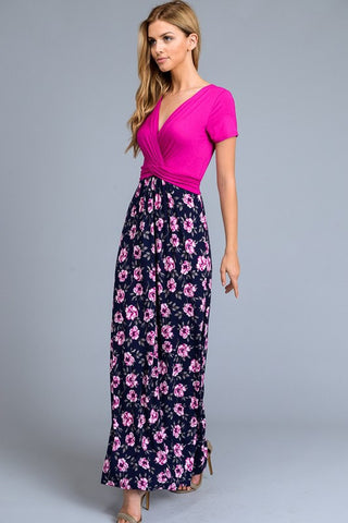 Music in the Park Maxi Dress - Fuschia