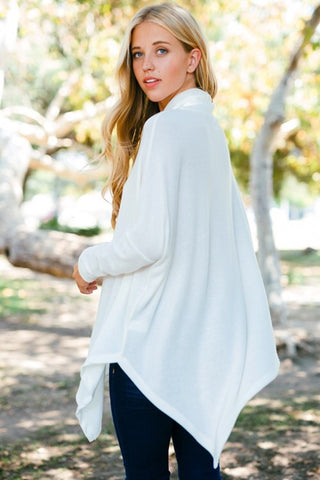 Off White Poncho - Blue Chic Boutique  - 2