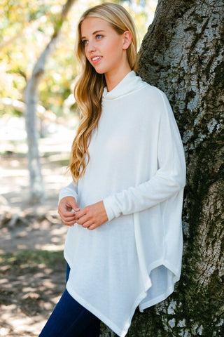 Off White Poncho - Blue Chic Boutique  - 3