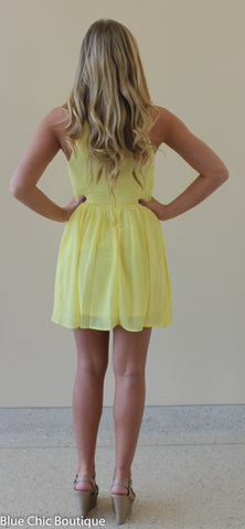 Ruffle Dress - Yellow - Blue Chic Boutique  - 8