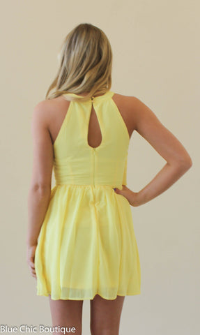 Ruffle Dress - Yellow - Blue Chic Boutique  - 2