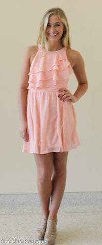 Ruffle Dress - Blush - Blue Chic Boutique  - 6