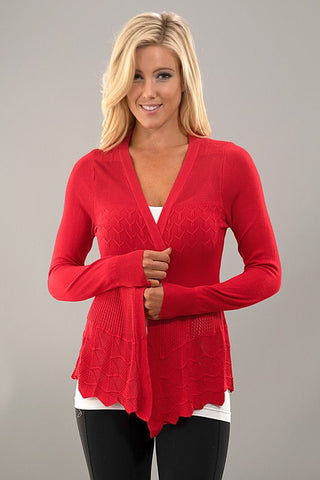 It's all in the Details Cardigan - Red - Blue Chic Boutique  - 1