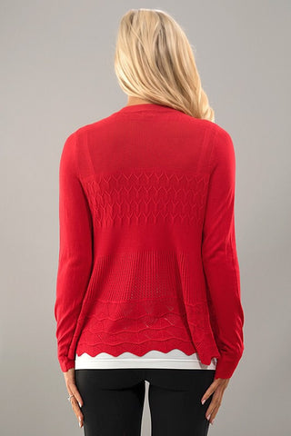 It's all in the Details Cardigan - Red - Blue Chic Boutique  - 3