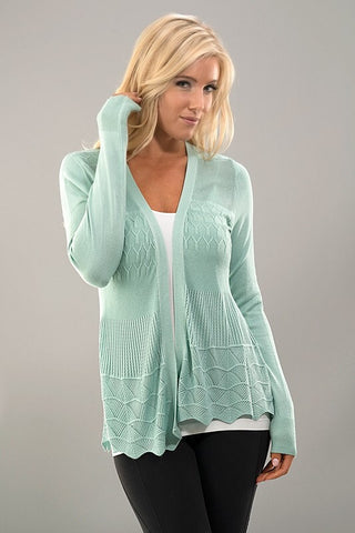 It's all in the Details Cardigan - Mint - Blue Chic Boutique  - 1