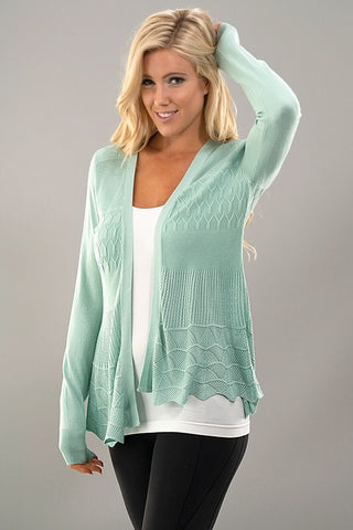 It's all in the Details Cardigan - Mint - Blue Chic Boutique  - 2