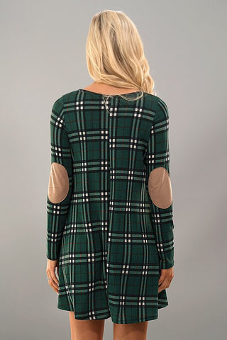 Winter Wonder Dress - Green Plaid - Blue Chic Boutique  - 3