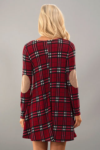 Winter Wonder Dress - Red Plaid - Blue Chic Boutique  - 3