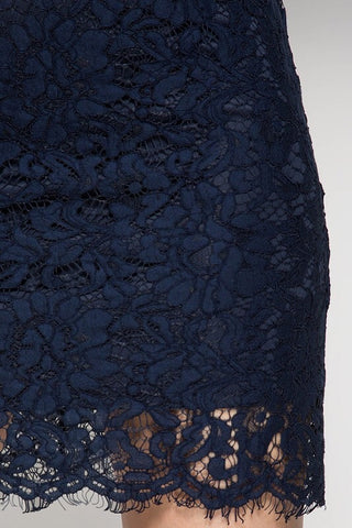 Meet me at Midnight Lace Dress - Navy - Blue Chic Boutique  - 4