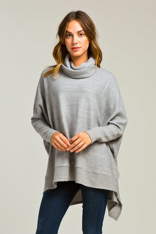 Blustery Afternoon Top - Grey - Blue Chic Boutique  - 1