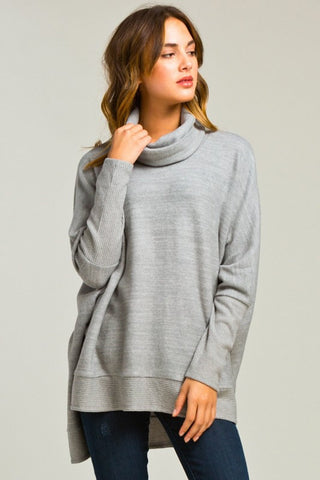 Blustery Afternoon Top - Grey - Blue Chic Boutique  - 2