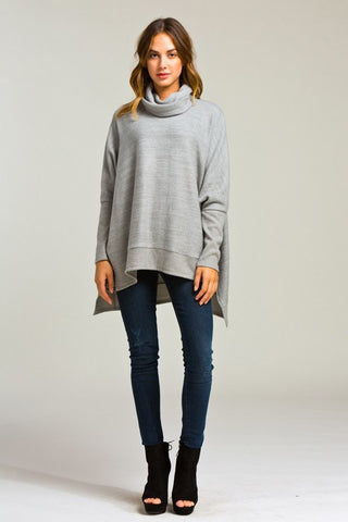Blustery Afternoon Top - Grey - Blue Chic Boutique  - 3