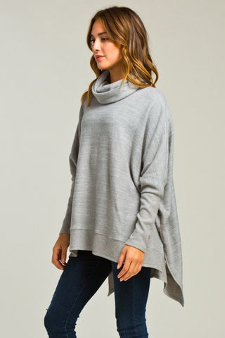 Blustery Afternoon Top - Grey - Blue Chic Boutique  - 4