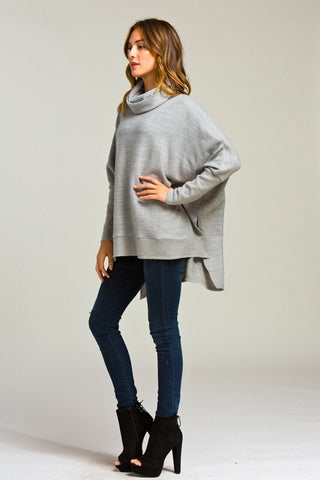 Blustery Afternoon Top - Grey - Blue Chic Boutique  - 5