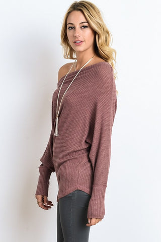 Cozy Lodge Top - Light Maroon - Blue Chic Boutique  - 2