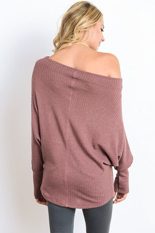 Cozy Lodge Top - Light Maroon - Blue Chic Boutique  - 3
