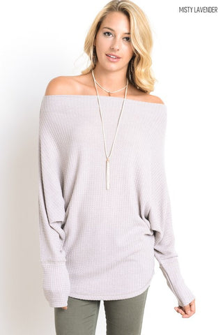 Cozy Lodge Top - Lavender - Blue Chic Boutique  - 1