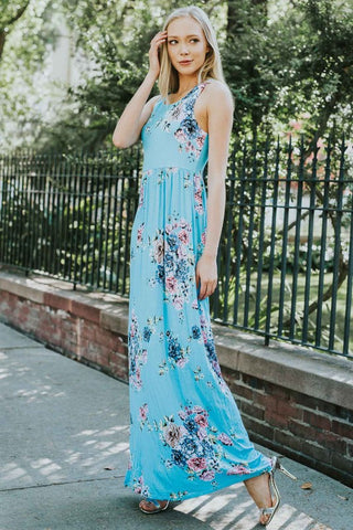 Garden Party Maxi Dress -  Turqouise