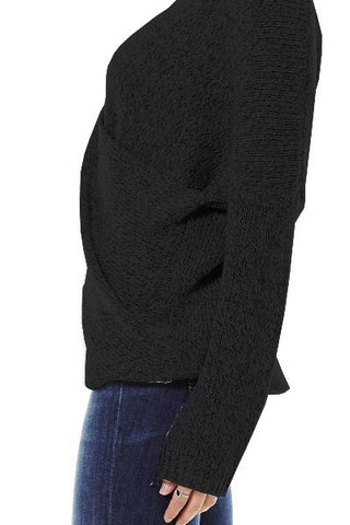 Wrapped in Warmth Sweater - Black - Blue Chic Boutique  - 7