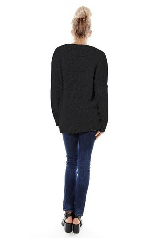 Wrapped in Warmth Sweater - Black - Blue Chic Boutique  - 8