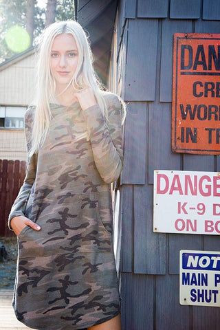 Camo Dress with Pockets - Blue Chic Boutique  - 2