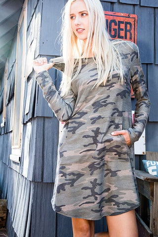 Camo Dress with Pockets - Blue Chic Boutique  - 8