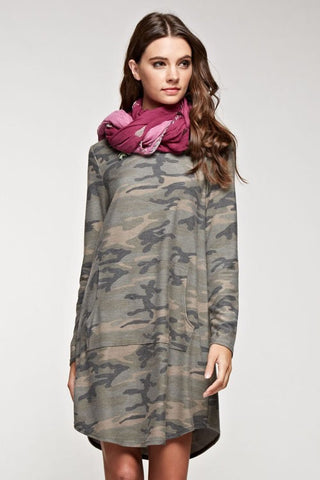 Camo Dress with Pockets - Blue Chic Boutique  - 3