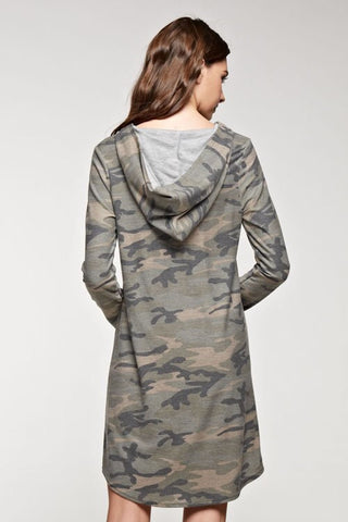 Camo Dress with Pockets - Blue Chic Boutique  - 4